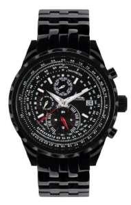 Richtenburg 81097–Montre de Poignet pour homme, bracelet en métal noir