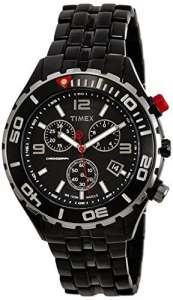 Timex – T2M758 AU – Montre Homme Acier – Timex Sport Luxury – Quartz Analogique – Cadran Noir – Bracelet Acier Noir