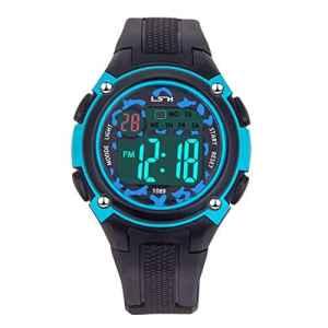 Montres-Bracelets pour Garçons Filles Sports-3 ATM Montre de Sport en Plein air étanche avec, Montres électroniques pour Enfants (Noir Bleu)