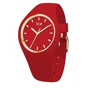 Ice-Watch – Ice Glam Colour Red – Montre Rouge pour Femme avec Bracelet en Silicone – 016264 (Medium)