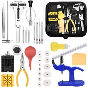 ETEPON Kit Réparation Montre Outils Professionnel pour Montre Ensemble Lien Ouvrir Ajuster Table Arrière ET017