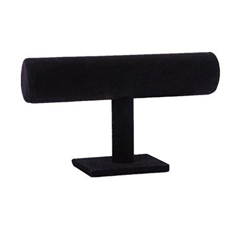 Toruiwa Support Bracelet Présentoir Montre Type T pour Rangement de Bijoux Montre Bracelet (Noir)