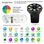 RUIXFWA Montre numérique Positionnement GPS Smartphone 3G Carte Cardiofréquencemètre Prévisions météo Podomètre, D