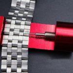 Bracelet Lien Pin Remover Outil de réparation kit en métal réglable Bracelet de montre