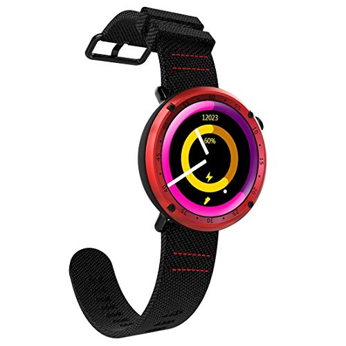 Somviersb Sport Fitness Tracker étanche 1,3 pouces TFT GPS Bluetooth intelligent montre avec moniteur de fréquence cardiaque et Compass & Blood Pressure Mode Hommes d'affaires Waterproof Dial Bamboo S