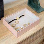 Stackers Couche Classique pour Bijoux volumineuse en Croco Rose