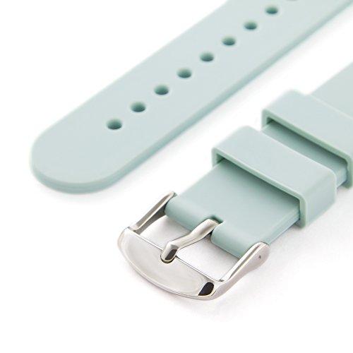 Archer Watch Straps – Bracelet de Montre Homme et Femme | Ajustable en Silicone Souple et Robuste | pour Montre Classique et Smartwatch (Bleu Poudre, 18mm)