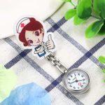 Lancardo Montre d'infirmière pour femme Montre de poche analogique à quartz en alliage 2 pièces