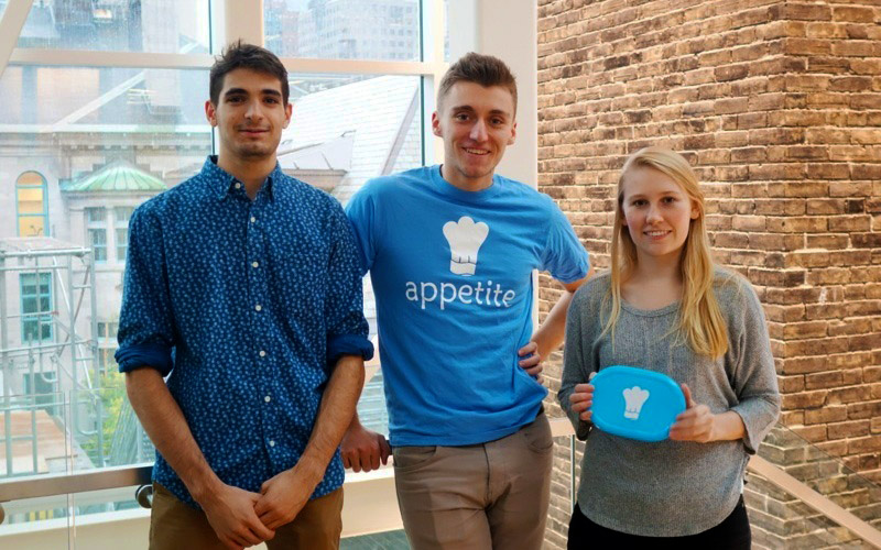 Food-sharing app offers a healthy break from routine