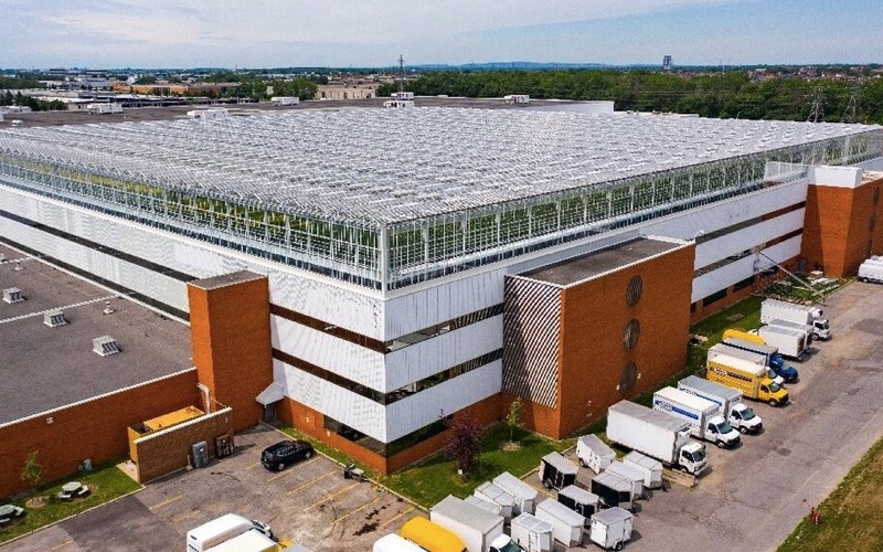 Lufa Farms builds 'world's biggest rooftop greenhouse' in Ville Saint-Laurent