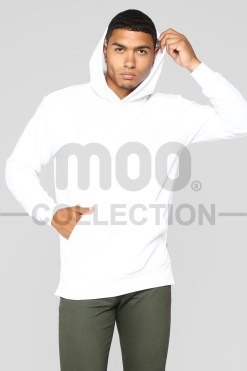 DREW PULLOVER HOODIE WHITE