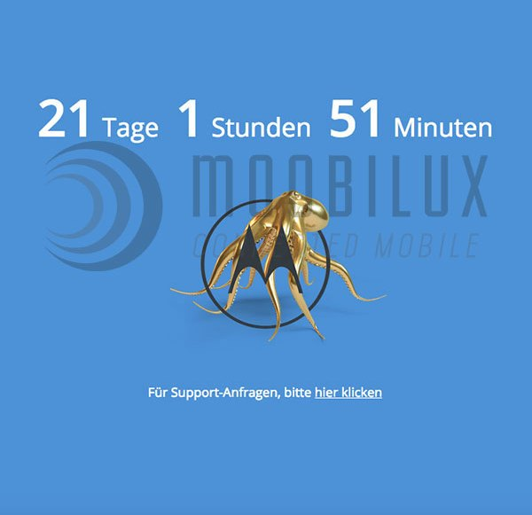 Update: Deutsche Motorola Website offline