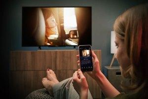 Mit der Waipu Smartphone App lässt sich der Fernseher steuern. (Foto: Exaring AG)
