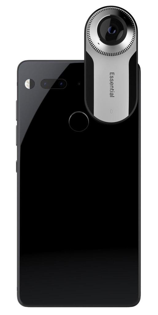 Das Essential Phone mit angedockter 360° Kamera. (Bild: Essential)