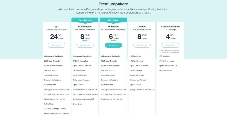 Die Kosten für die Premium-Dienste liegen zwischen 4 und 25 Euro im Monat. (Screenshot: moobilux)