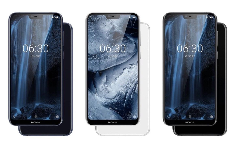 Das Nokia X6 wird in China in den Farben Schwarz, Silber und Blau erhältlich sein. (Bild: HMD Global)