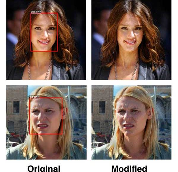 Filters are designed to protect people's photos from face detection