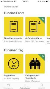 Startseite der BVG-Ticket App. (Bild: moobilux.com)
