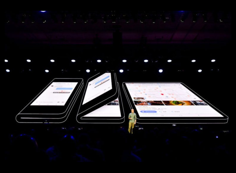 Also Samsung introduces foldable smartphone