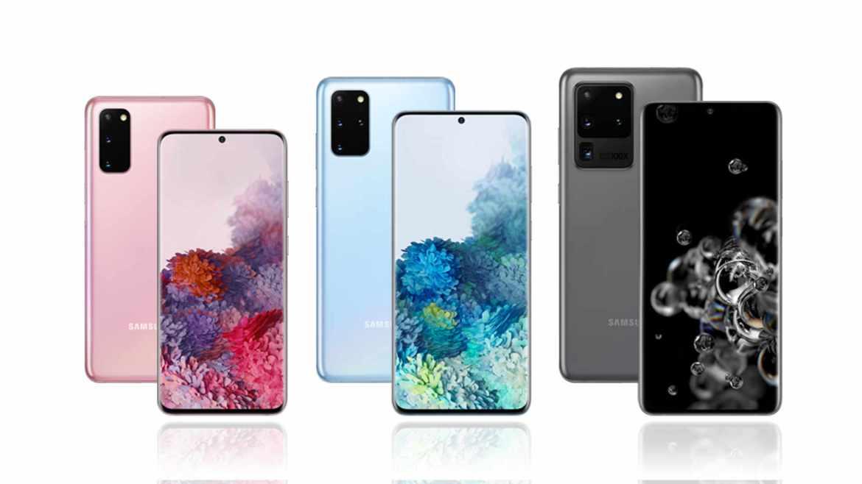 Das Samsung Galaxy S20, Galaxy S20 Plus und das Galaxy S20 Ultra. (Bild: Samsung)