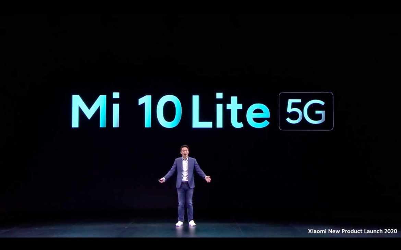 Shou Zi Chew stellt das Xiaomi Mi 10 Lite vor. (Bild: Screenshot)