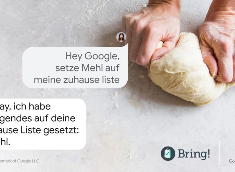 Einkaufs-App Bring unterstützt jetzt Googles Assistenten