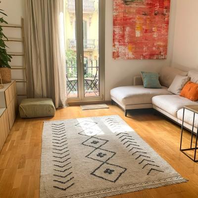 berber waschbarer teppich rhombs l
