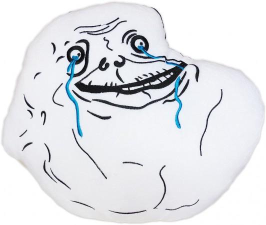 forever alone meme plush cushion