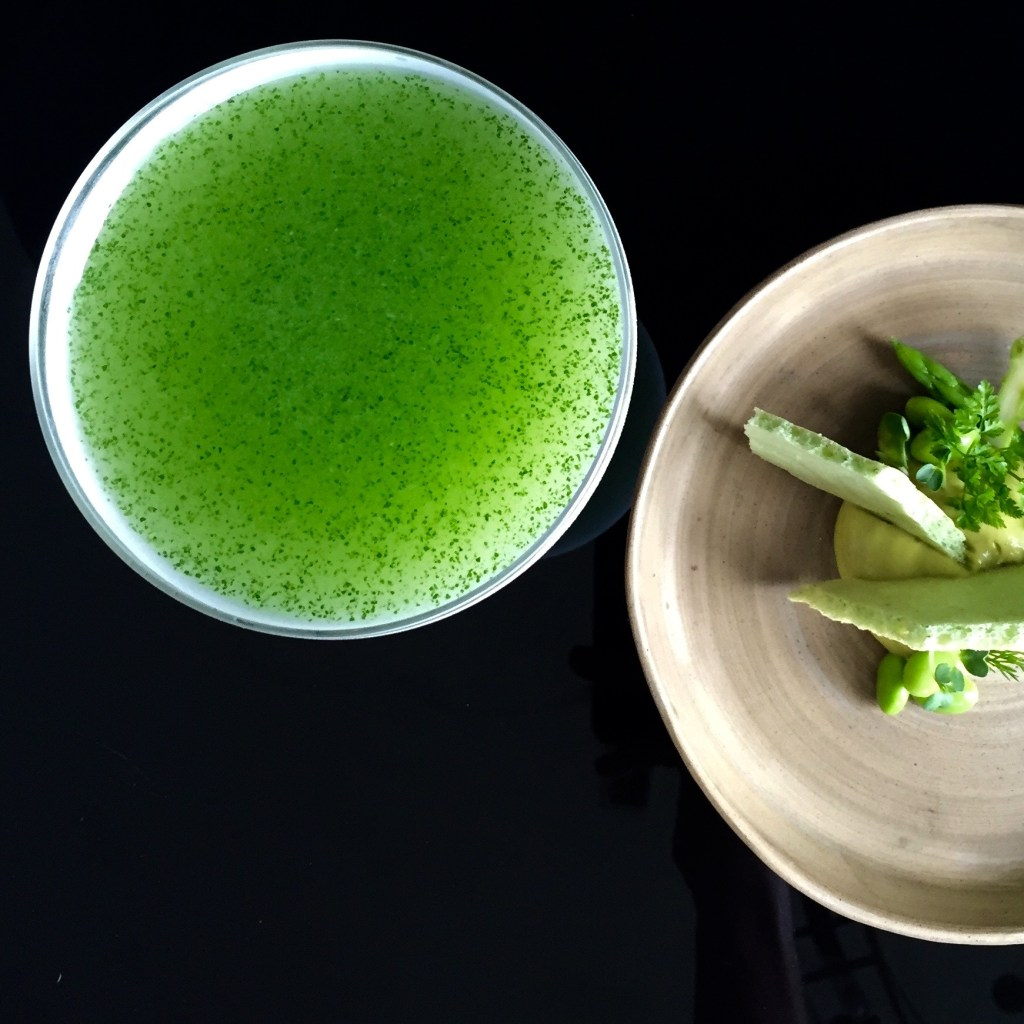 Vietnamese Basil Daiquiri - A modernist cocktail by Hanoi's Mood Therapist, Rich McDonough