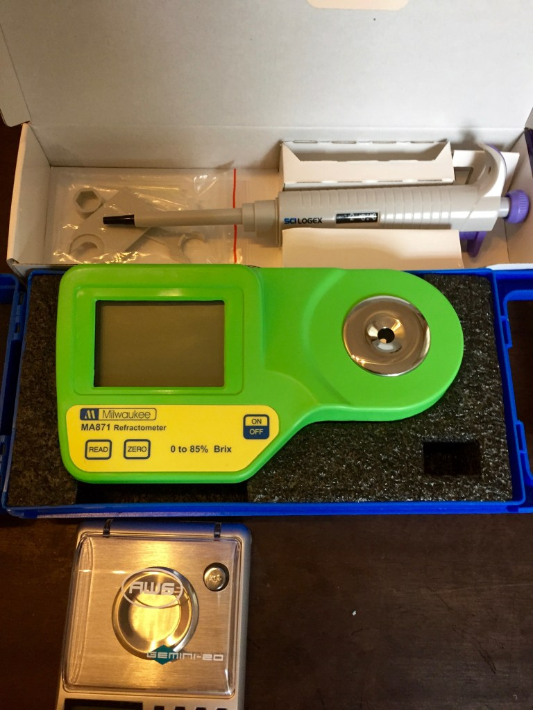Refractometer, Micropipette - My Modernist cocktail home bar - The Mood Therapist, Rich McDonough