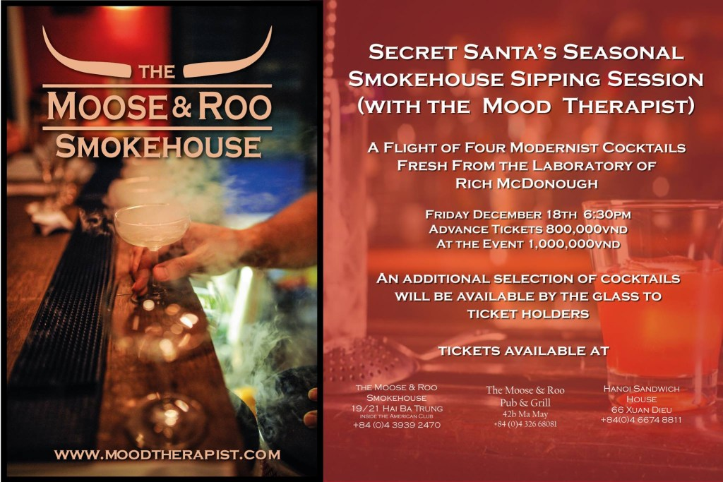 Smokehouse Seasonal Sipping Session by the Mood Therapist
