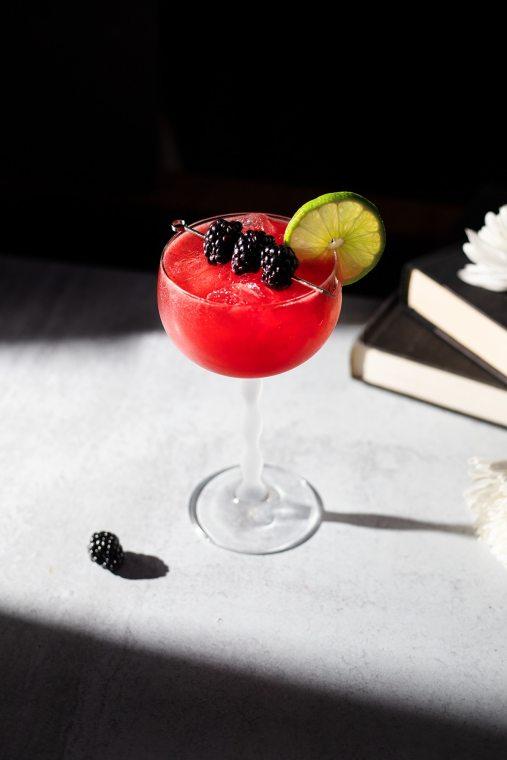 Hot Honey Blackberry Margarita