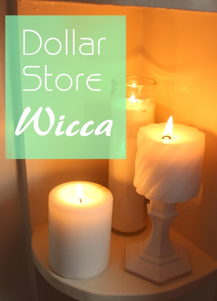 Items for wicca, witchcraft and magick commonly found at the dollar store.