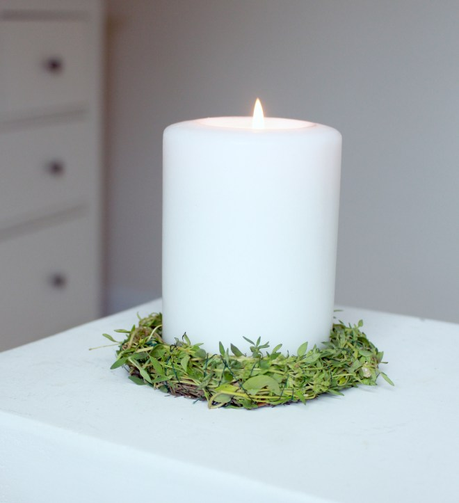Herb Rings for Candles