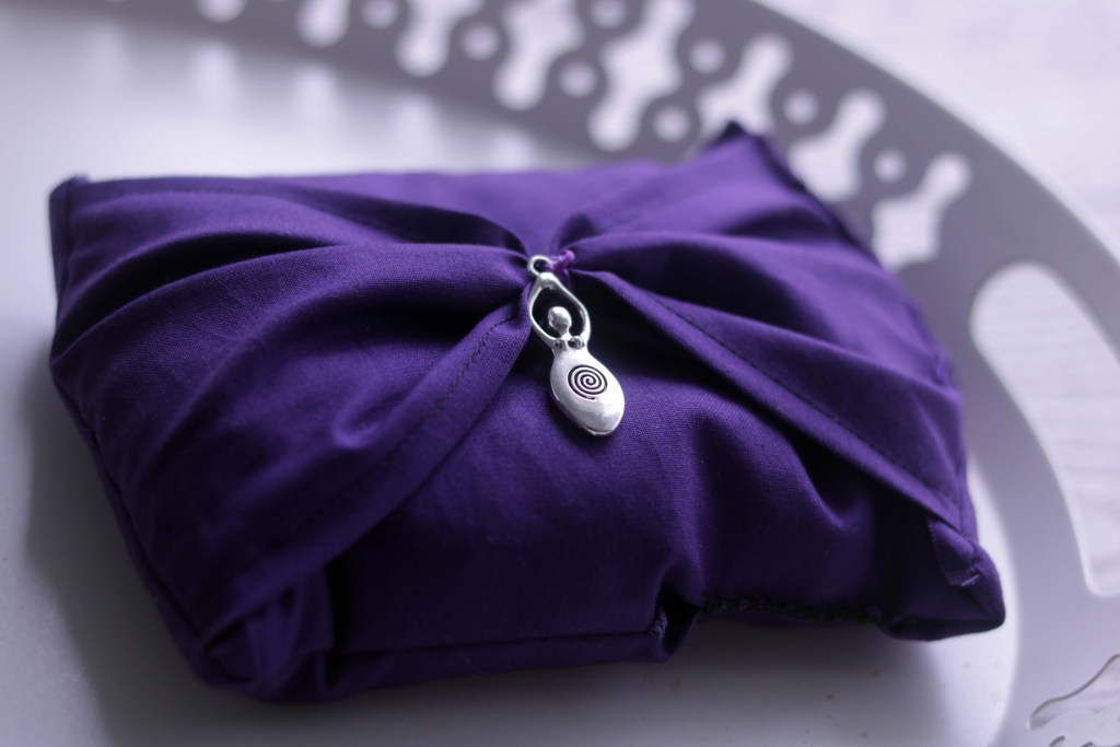 Moody Moons handmade royal purple dream pillow.