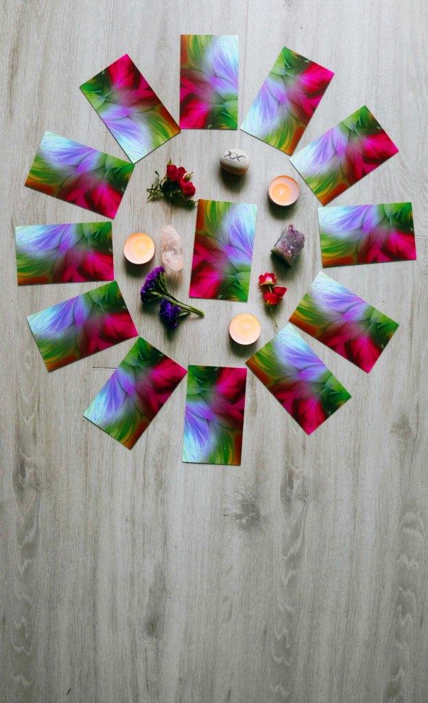 Wheel of the Year New Year's tarot spread.