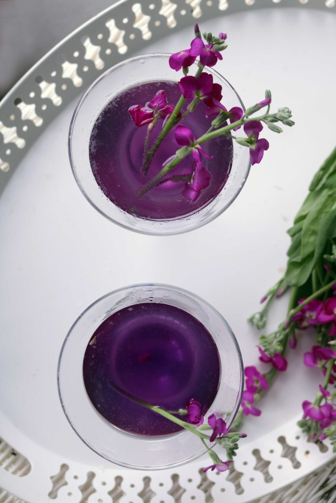 Gorgeous floral cocktail is a perfect addition to your spring Ostara celebration.