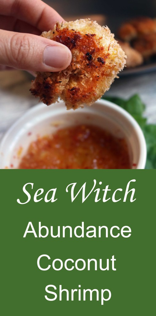 A sea witch's magical recipe for coconut shrimp with marmalade sauce. Magically delicious . . .