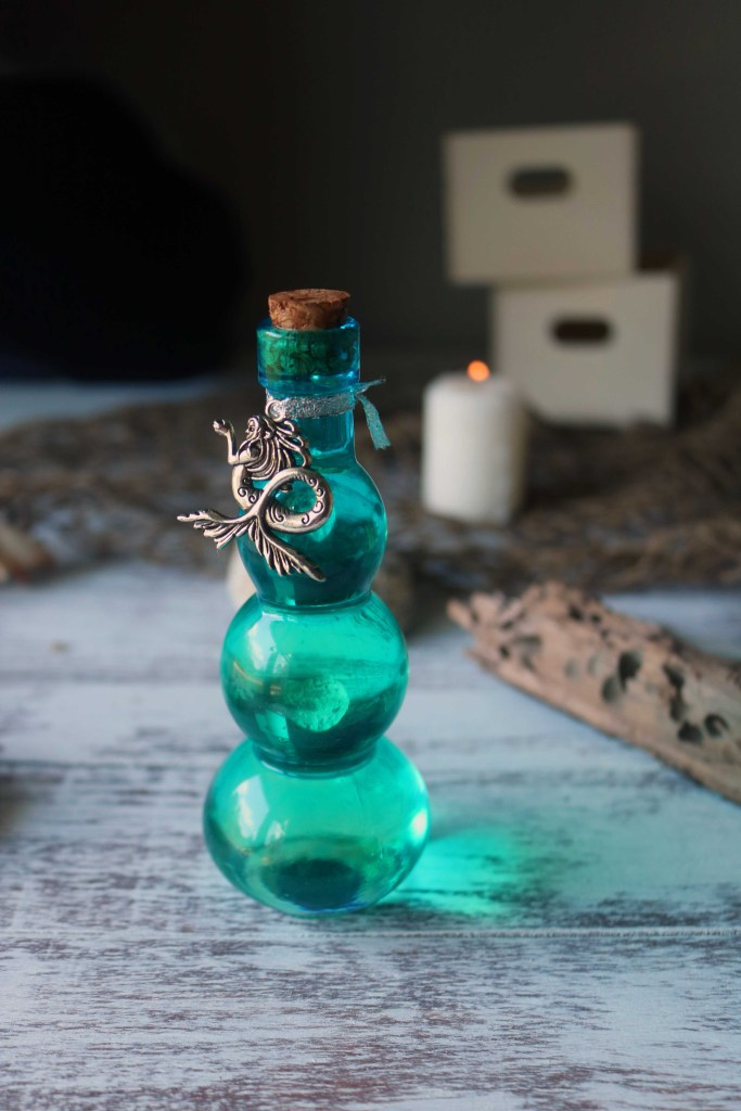 Mermaid oil for working with the Element of Water in witchcraft.