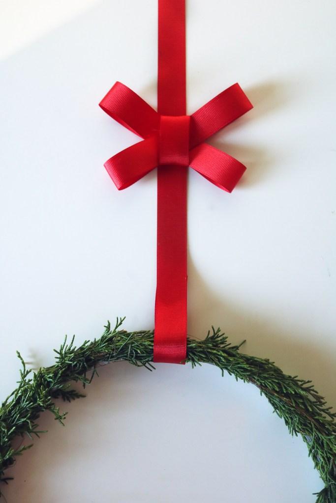 Evergreen winter solstice wreath tutorial.