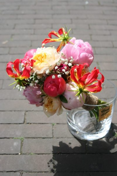 walk in wedding bouquet