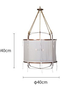 Provence Linen Pendant Light
