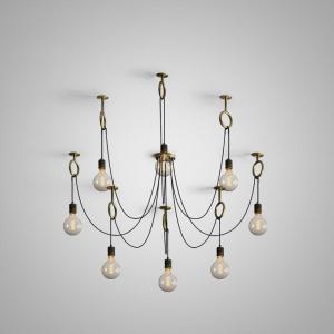 industrial spider chandelier