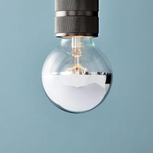 LED-lampa - silverfärgad
