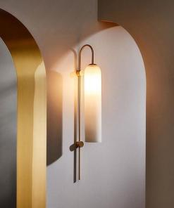 Glass wall sconce/pendant lamp