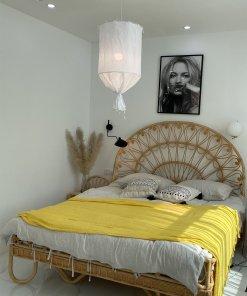 Round Linen Pendant Lamp