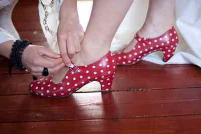 Trouwreportage schoenen