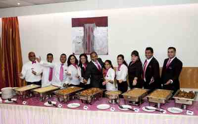 De catering van de bruiloft op de foto