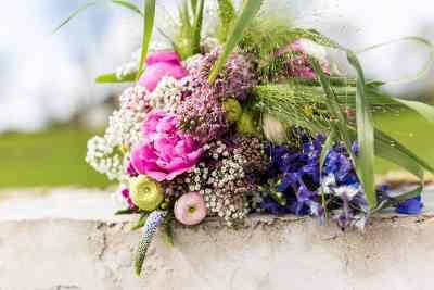 trouwfoto bruidsboeket