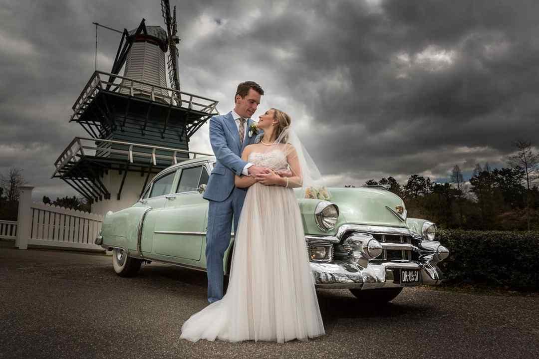 bruidsfoto molen Groenendaal